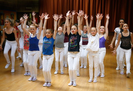 Pupils during a dance class